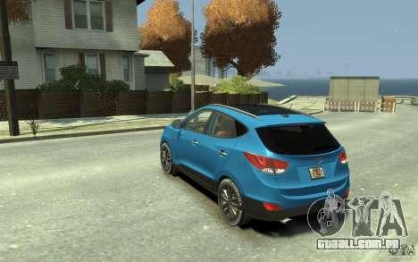Hyundai IX35 2010 Beta para GTA 4 traseira esquerda vista