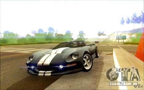 Shelby Series 1 1999 para GTA San Andreas traseira esquerda vista