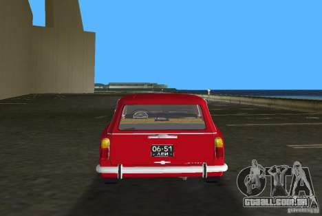 VAZ 2102 para GTA Vice City vista interior