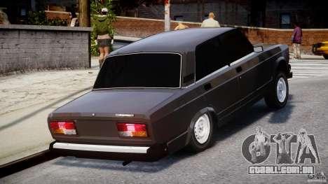 Vaz-2107 Avtosh estilo para GTA 4 vista interior