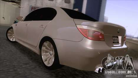 BMW M5 2009 para GTA San Andreas vista direita