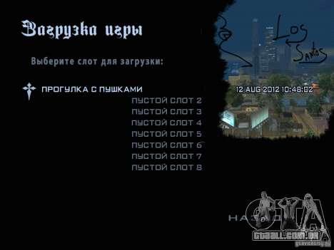 Novas imagens do menu para GTA San Andreas terceira tela