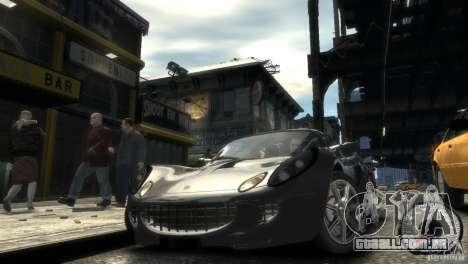 Lotus Elise v2.0 para GTA 4 vista de volta