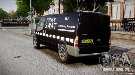 Ford Transit SWAT [ELS] para GTA 4 traseira esquerda vista