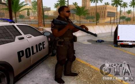 Um policial de CoD: BO2 para GTA San Andreas segunda tela