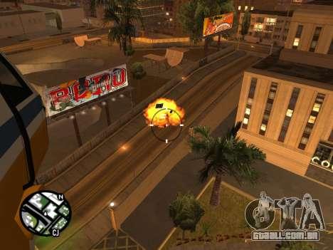 Tiro de um helicóptero para GTA San Andreas terceira tela