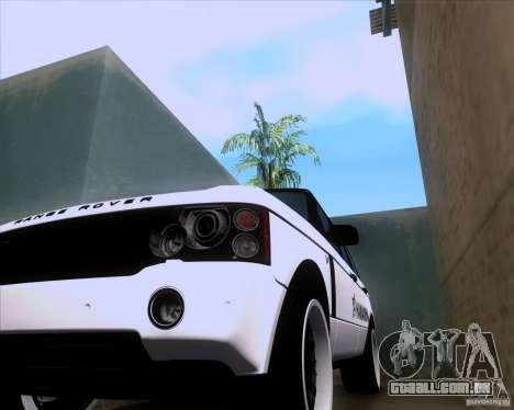 Range Rover Hamann Edition para GTA San Andreas vista traseira