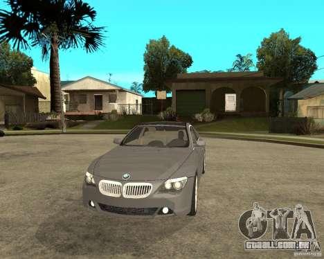 BMW 645Ci 04 para GTA San Andreas vista traseira