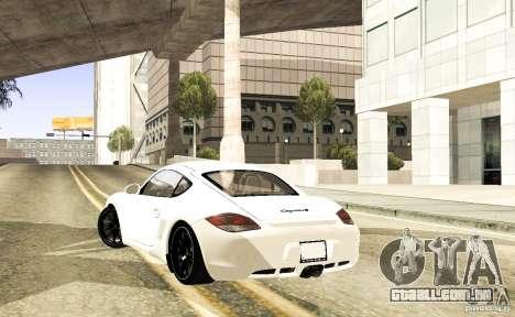 Porsche Cayman R para GTA San Andreas vista direita