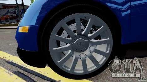Bugatti Veyron 16.4 v1.0 wheel 2 para GTA 4 vista de volta