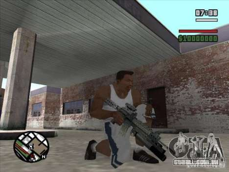 M4 s. l. a. t. k. e. r. (a) para GTA San Andreas