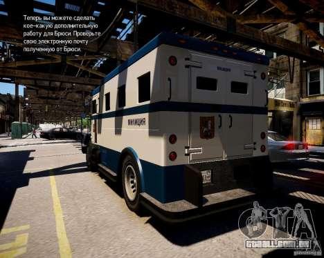Russian Police Stockade para GTA 4 traseira esquerda vista