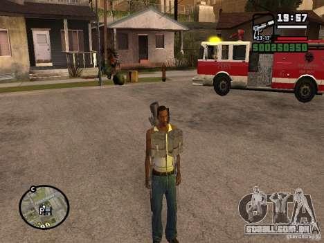 A arma nas costas para GTA San Andreas segunda tela