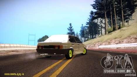 Hobo Vaz 21099 para GTA San Andreas traseira esquerda vista