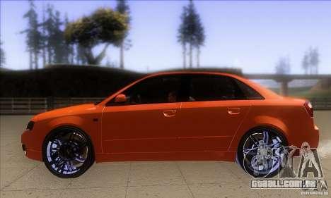 Audi S4 DIM para GTA San Andreas esquerda vista