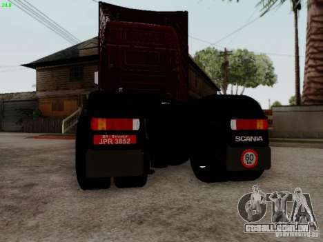 Scania R580 V8 Topline para GTA San Andreas vista traseira