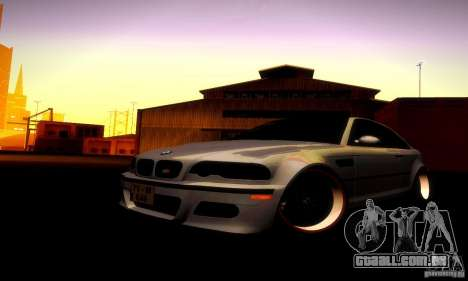 BMW M3 JDM Tuning para GTA San Andreas vista interior