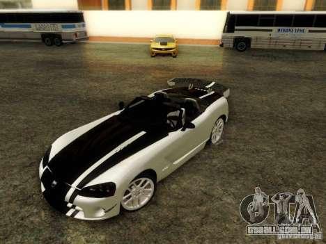 Dodge Viper SRT-10 Roadster ACR 2004 para GTA San Andreas vista interior
