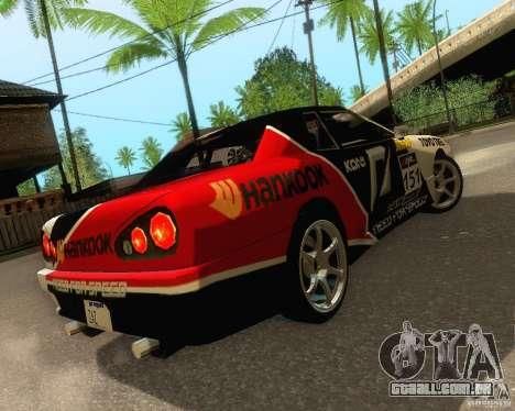Need for Speed Elegy para GTA San Andreas vista superior