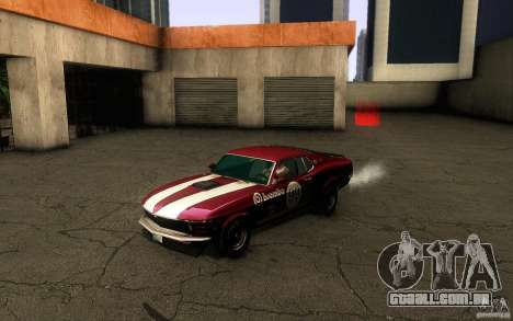 Ford Mustang Boss 302 para GTA San Andreas vista superior