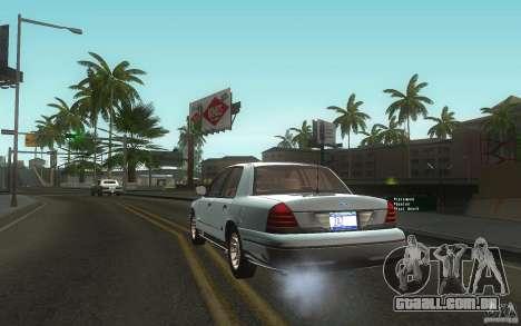 Ford Crown Victoria para GTA San Andreas traseira esquerda vista