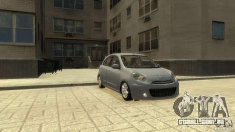 Nissan Micra para GTA 4 traseira esquerda vista
