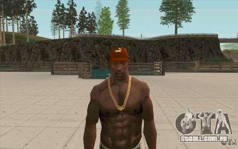 Boné Puma para GTA San Andreas terceira tela