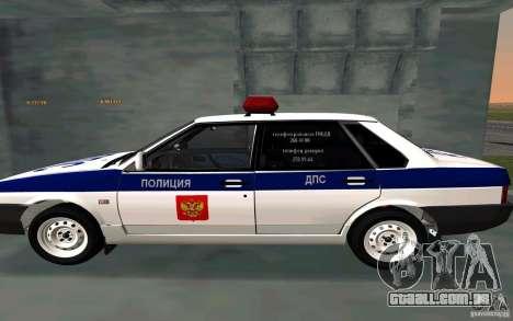 Vaz 21099, polícia para GTA San Andreas esquerda vista