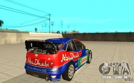 2 obras de pintura para o Ford Focus RS WRC 08 para GTA San Andreas esquerda vista