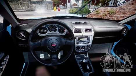 Subaru Impreza WRX STI Spec C Type RA-R 2007 para GTA 4 vista de volta