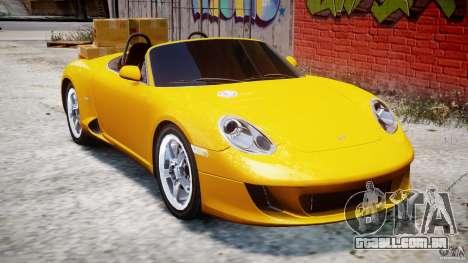 Ruf RK Spyder v0.8Beta para GTA 4 vista interior