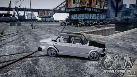 ВАЗ 2107 Drift para GTA 4 vista de volta
