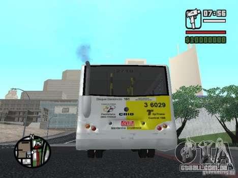 Induscar Caio Piccolo para GTA San Andreas traseira esquerda vista