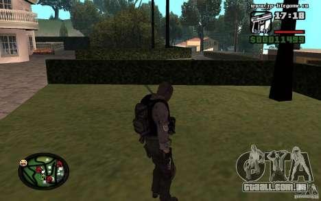 De homens e mulheres novas skins para o exército para GTA San Andreas segunda tela