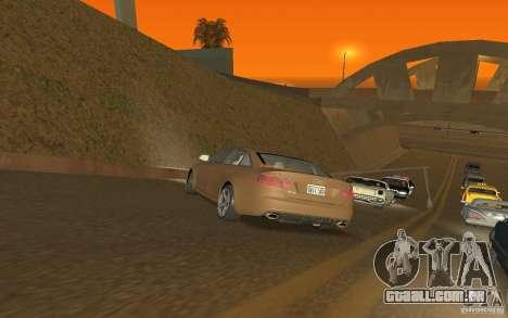 Audi RS6 TT Black Revel para GTA San Andreas traseira esquerda vista