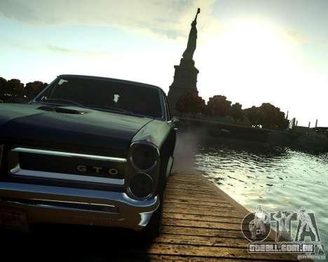 Pontiac GTO DF para GTA 4 vista de volta