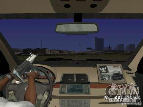 Toyota Avanza Street Edition para GTA San Andreas vista interior