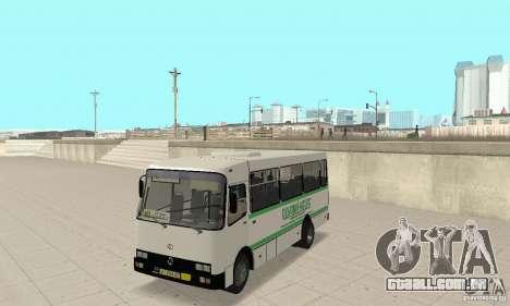 Bogdan A091 para GTA San Andreas vista interior