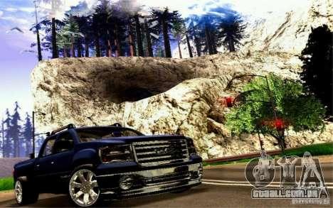 GMC Sierra 2011 para GTA San Andreas vista traseira