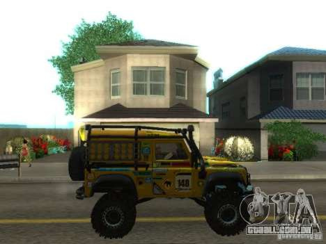 Land Rover Defender Off-Road para GTA San Andreas vista interior