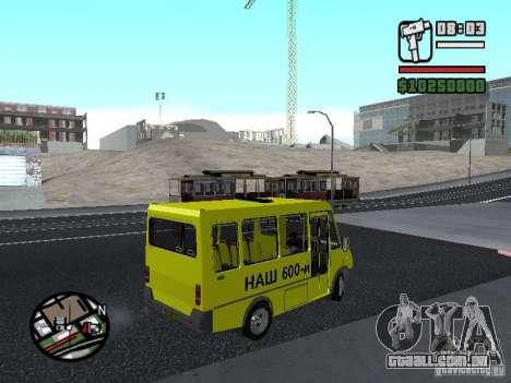 2215 GOLFINHO BANCO DE DADOS para GTA San Andreas esquerda vista