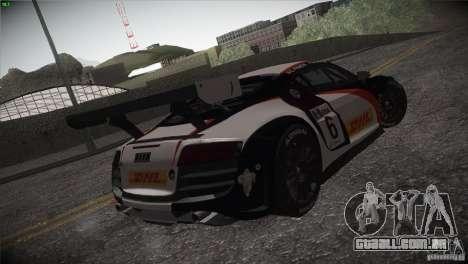 Audi R8 LMS para vista lateral GTA San Andreas