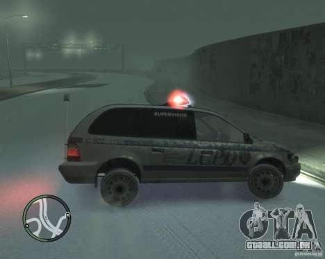 LCPD Minivan para GTA 4 esquerda vista