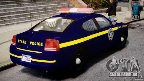 Dodge Charger NY State Trooper CHGR-V2.1M [ELS] para GTA 4 vista superior