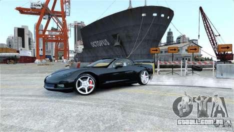 Chevrolet Corvette C6 Convertible v1.0 para GTA 4 motor