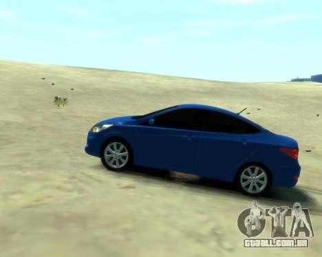 Hyundai Solaris Arab Edition para GTA 4 traseira esquerda vista