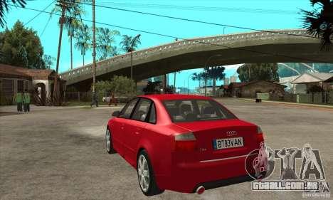 Audi S4 2004 para GTA San Andreas traseira esquerda vista