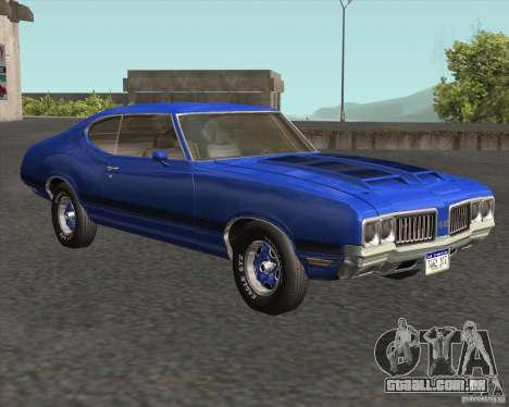 Oldsmobile 442 (fixed version) para GTA San Andreas vista traseira