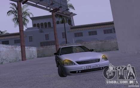 LADA Priora 2170 Pnevmo para GTA San Andreas vista interior