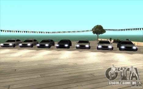 Mercedes-Benz S65 AMG com luzes piscando para GTA San Andreas traseira esquerda vista
